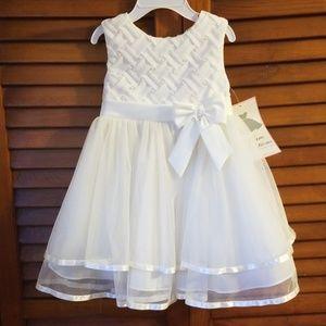 Toddler white pearl dress